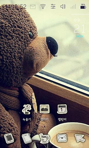 小熊的失落 桌面主题
