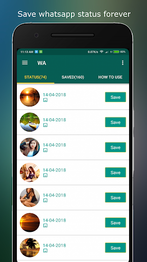 Status download and Status Saver 1.32 screenshots 2