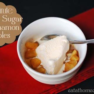 1 Minute Brown Sugar and Cinnamon Apples.
