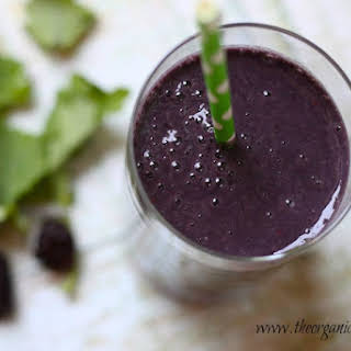 Blackberry and Baby Kale Breakfast Smoothie.