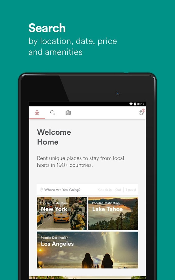 Screenshots of Airbnb for Android