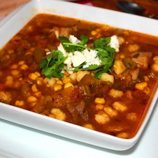 Pork and Green Chile Posole.