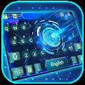 Blue Tech 3d Keyboard Theme icon