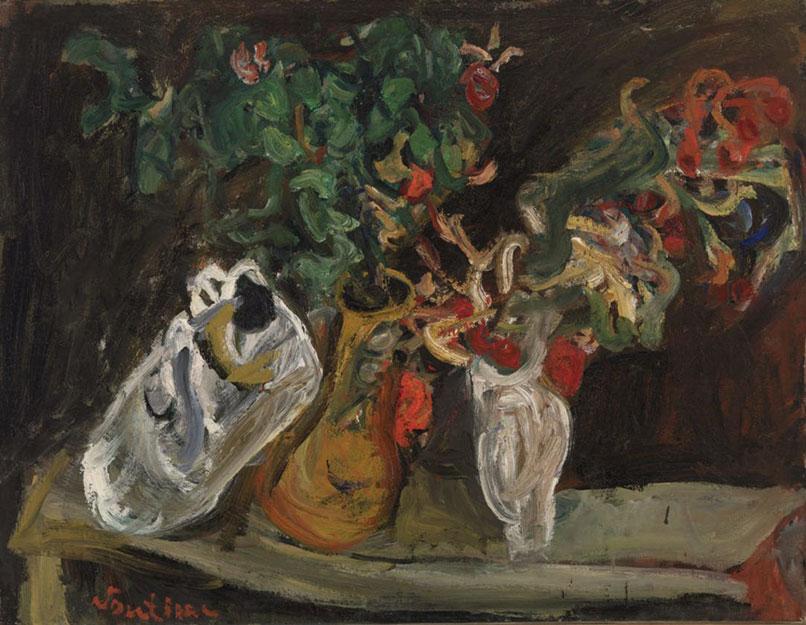 Хаим Сутин. Натюрморт с цветами.