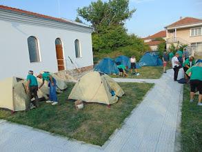 Photo: 5. Лагерът ни в църковния двор на Съединение