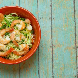 Lemon Garlic Shrimp Zoodles Recipe