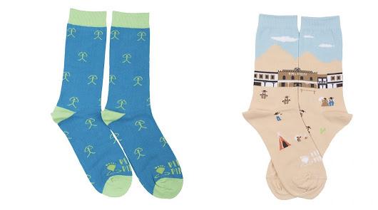 El indalo y el western de Tabernas protagonizan los calcetines más almerienses