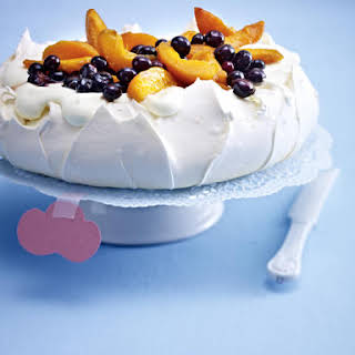 Apricot and Blueberry Pavlova.