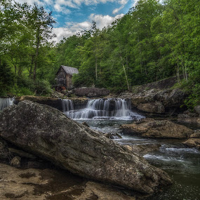 Glade Creek Grist Mill by Jozette Spacht - Landscapes Waterscapes