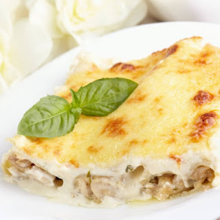 Chicken Cannelloni With Mushroom Filling.