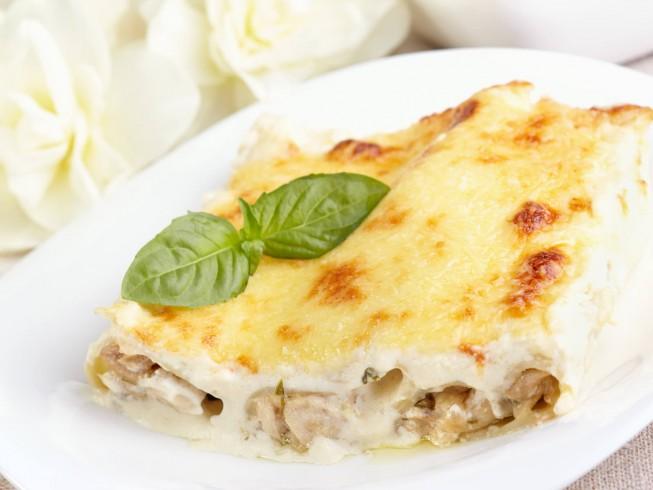 Chicken Cannelloni with Mushroom Filling Recipe