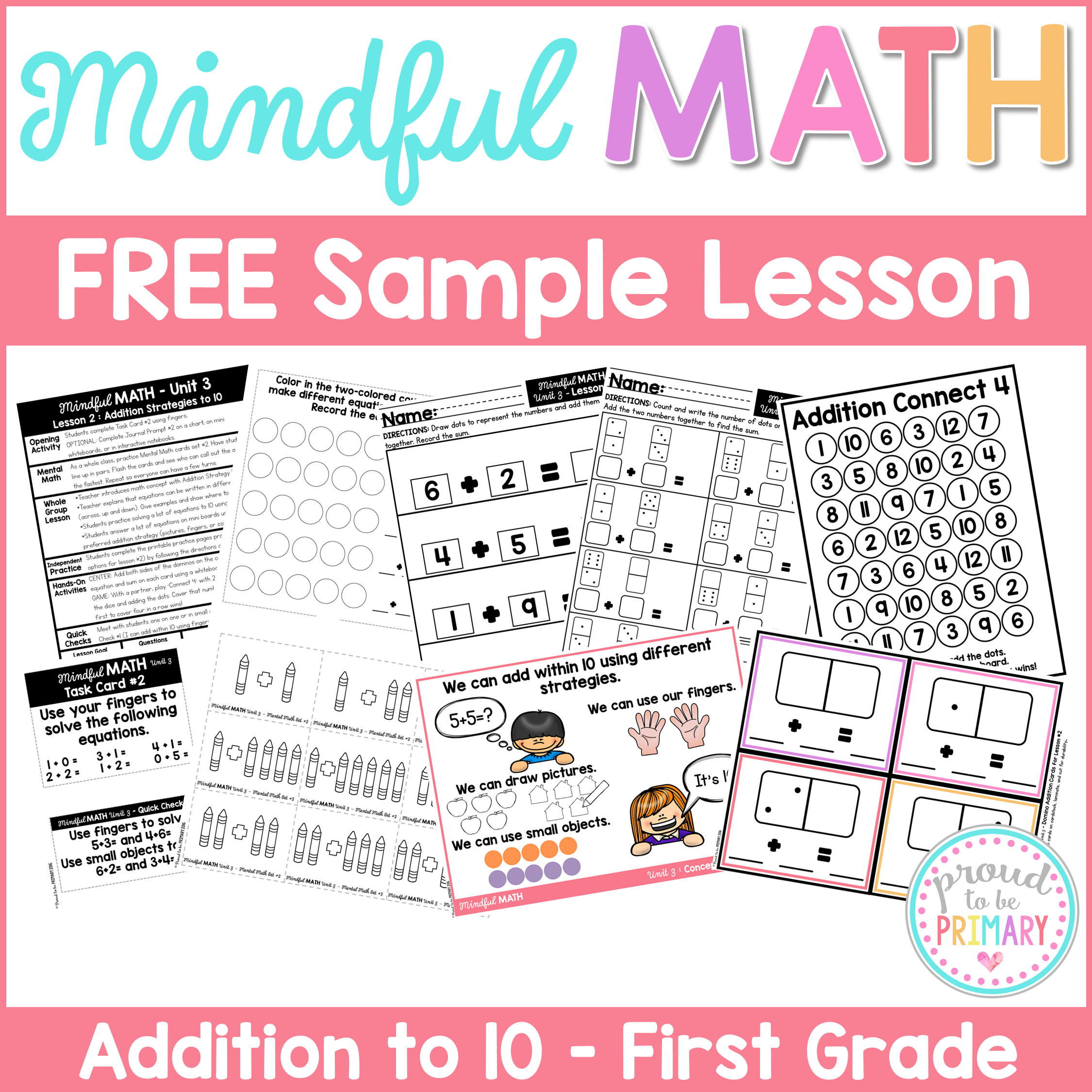 mindful math program free sample lesson