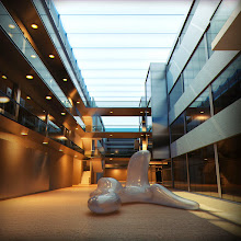 Photo: 3D/Architectural Visualisation:This is an interior 3dday shot of UAL (University of Arts London) I have produced for a client.