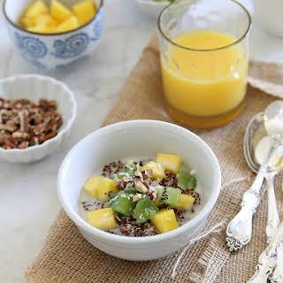 Mango Kiwi Breakfast Quinoa.