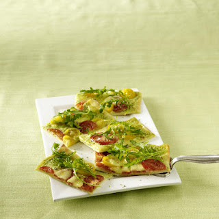 Tomato and Mozzarella Pastry Pizza.