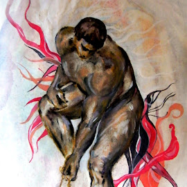 strong by Vesna Disich - Illustration People ( michelangelo, vesna disich, strong, art, ], drawing )