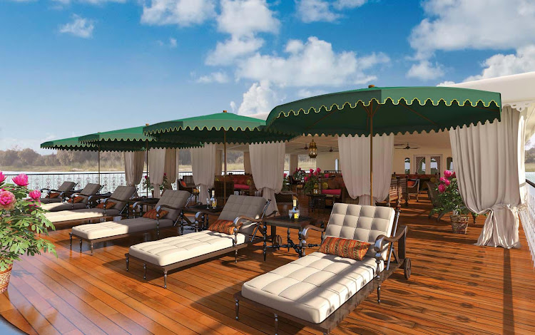 The sun deck on Ganges Voyager II is the ideal vantage point from which to take in India's Golden Triangle.