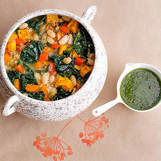White Bean Vegetable and Farro Soup Recipe