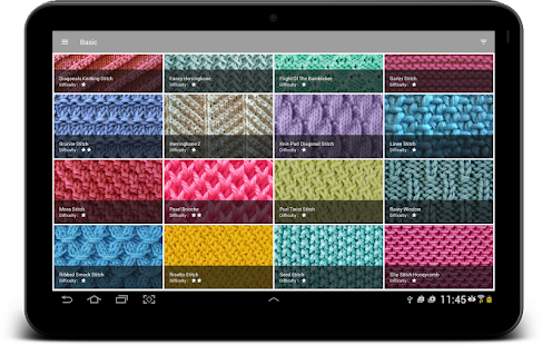Knitting Stitches- screenshot thumbnail