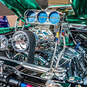 Power to spare by Jack Brittain - Transportation Automobiles ( car, ford torino, canada, engine, automobile, motor, chrome, kars on king, ontario, machine, oshawa )