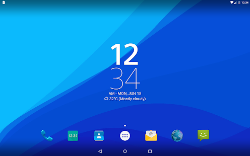 App Digital Clock Widget Xperia APK for Windows Phone