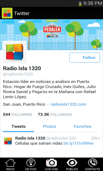Radio Isla Movil: captura de pantalla
