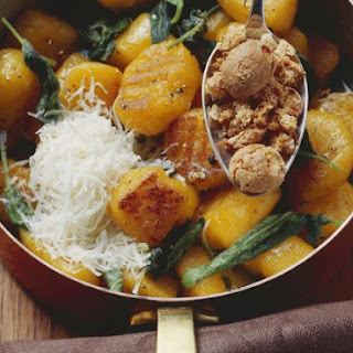 Pumpkin Gnocchi with Almond Cookies