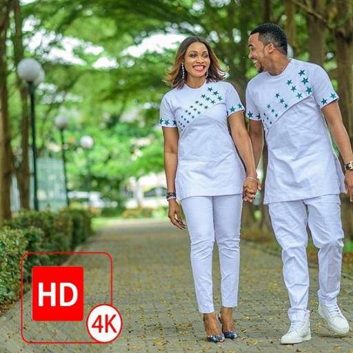 African Couple Fashion Photo