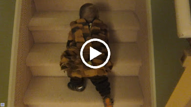 Video: Liam's first attempt at stairs