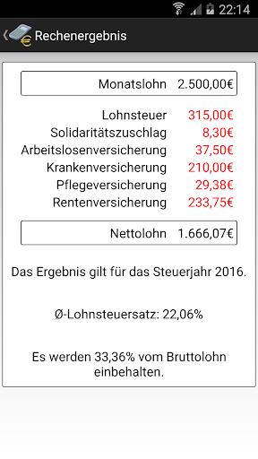 Gehaltsrechner  Brutto → Netto for PC