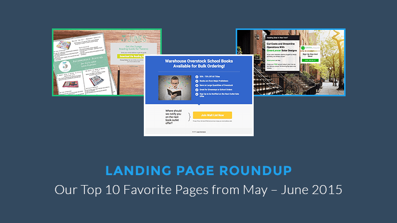 The Best Landing Pages We Saw in May & June 2015
