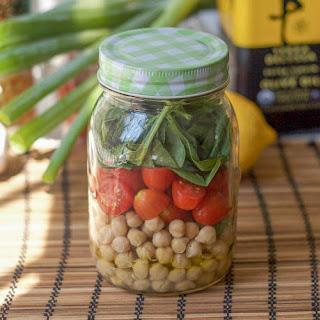 Lunch in a Mason Jar Recipes - Chickpea Salad Recipe