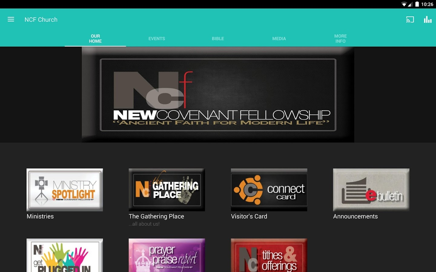 The NCF Church App- screenshot