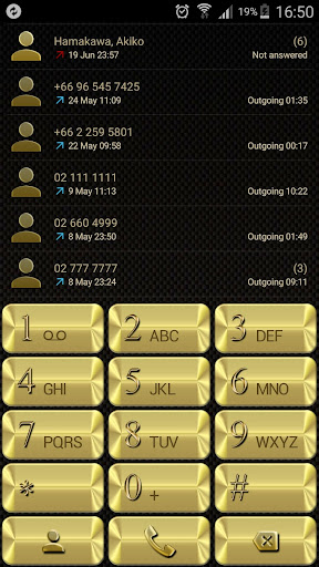 Theme for ExDialer Metal Gold