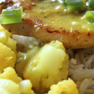 Curried Pork Chops and Cauliflower with Basmati Rice Recipe