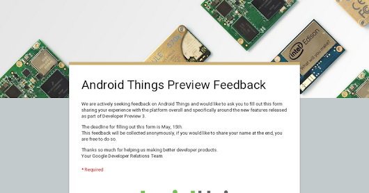 Android Things Preview Feedback
