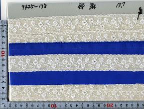 Photo: №9425-138綿50麻50レース:巾30mm