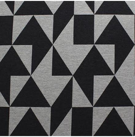 Block Möbeltyg - grå/svart