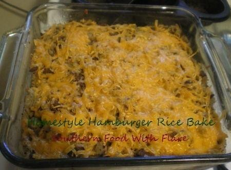 Homestyle Hamburger Rice Bake Recipe