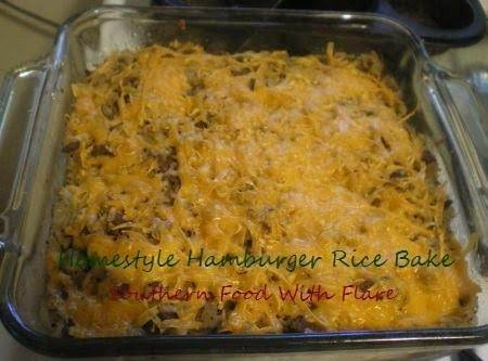Homestyle Hamburger Rice Bake Recipe
