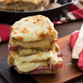 Ham and Cheese Skillet Sandwiches.