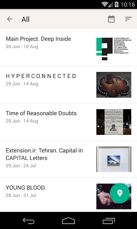 Biennale for Young Art- screenshot