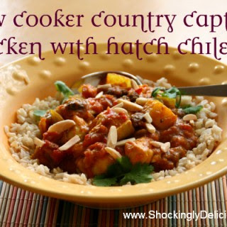 Slow Cooker Country Captain Chicken with Hatch Chiles.