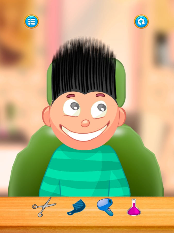 Child game / black hair cut- screenshot