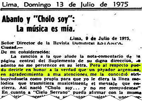 Cholo Soy Y No Me Compadezcas Vs El Todopoderoso De Boris Elkin Agencia De Prensa Lima Norte Apln