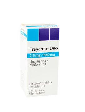 Trayenta Dúo 2.5/850Mg   Caja X60Tab Boehringer Linagliptina Metformina