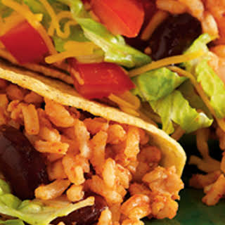 Easy Chicken and Rice Tacos.