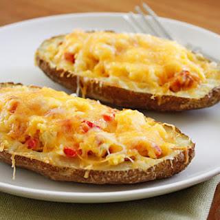 Western Omelet Breakfast Potato Skins Recipe