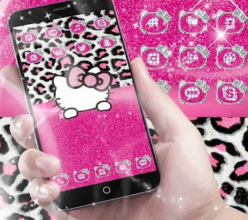 Pink Silver Diamond Leopard Kitty Theme - náhled