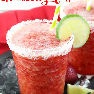 Non-Alcoholic Frozen Strawberry Margarita.